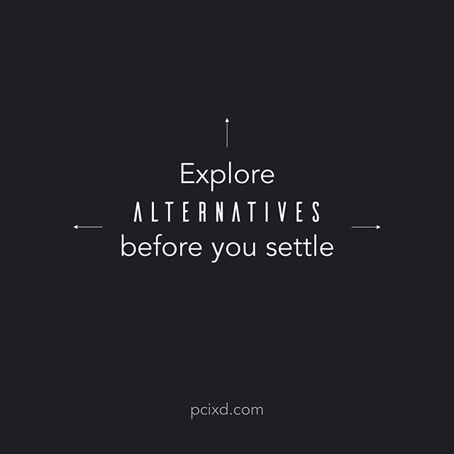 There will always be situations when the client will ask you show other directions you have explored apart from the current one you are showing them. You have got to be prepared for this. This also makes your case stronger.  #design #ux #uxdesign #interactiondesign #exlore #exploration #ixd #designer #designlife #creativity #creative #creatives #design101 #pcixd #dontsettle #find #personality #designerpersonality