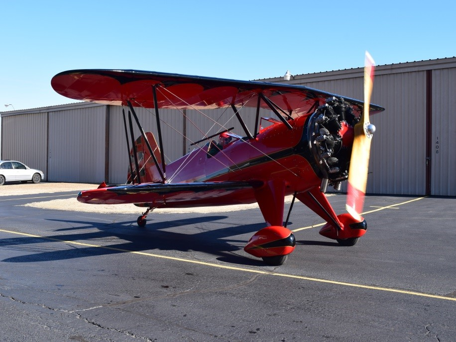 Starduster Too Red Biplane