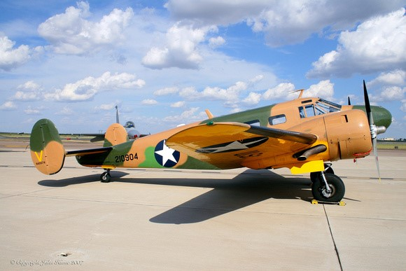 C-45 Aircraft - Rides - $135 in front, $100 in backLight transport, light bomber, aircrew trainer for bombing, navigation and gunnery, photo-reconnaissance, and