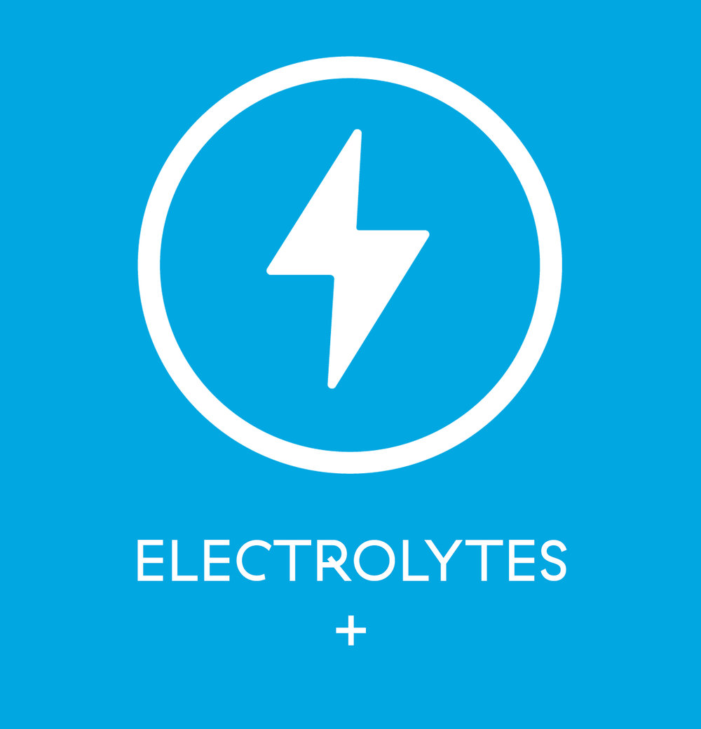 Electrolytes - An isotonic blend of ORGANIC CANE SUGAR and electrolytes optimizes cellular rehydration and muscle recovery while reenergizing. Only 60 calories per bottle.