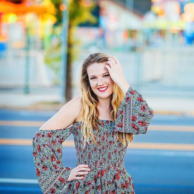 I was quite happy to find a little a colorful amusement park to use as a backdrop!