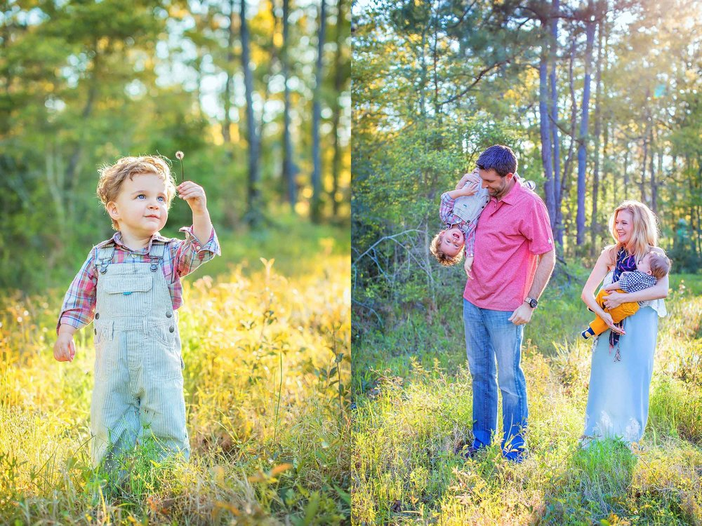 Lifestyle family portrait in Montgomery Texas by spryART photography