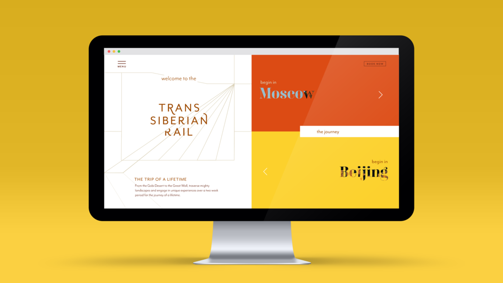 Trans Siberian Railway - BRANDING & WEB DESIGNThe website allows users to explore the luxurious onboard amenities and dive into the journey of one of the most historic railways.