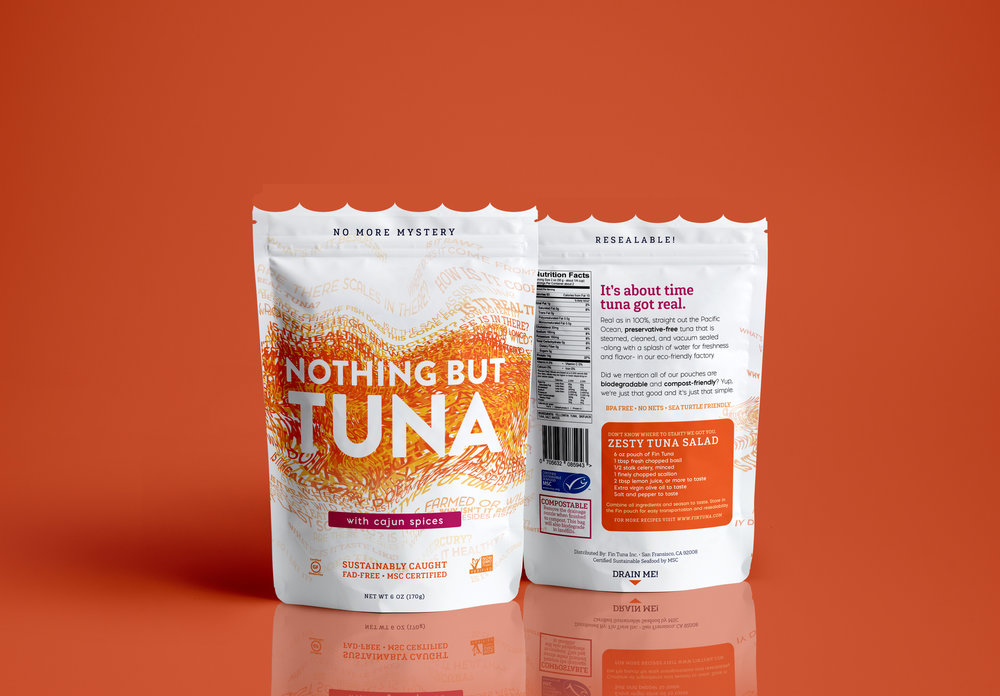 Nothing But Tuna - PACKAGING DESIGNThe packaging offers a new perspective on the shelf stable meat to reflect the fresh and healthy contents.