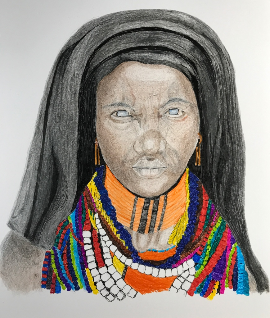 African girl with scarf jpg