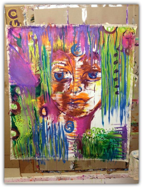 canvas spirit in progress