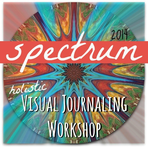 spectrum holistic visual journaling workshop with Hali Karla Arts