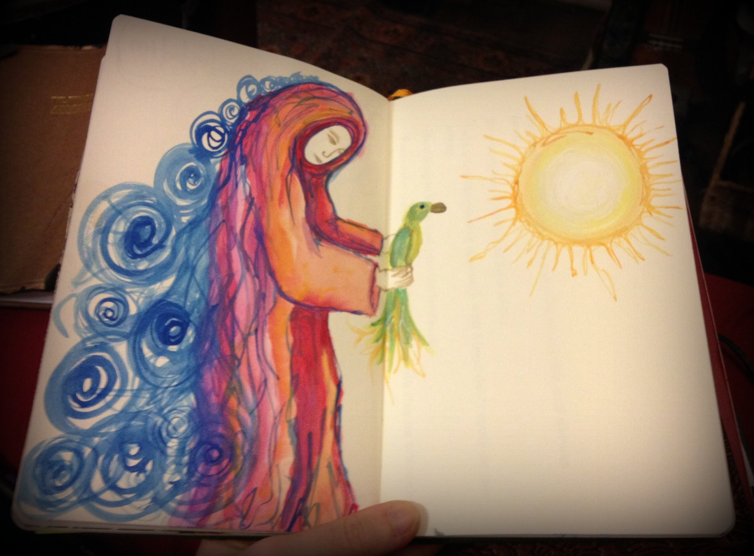 prayer pages. watercolor in journal. aedm2013