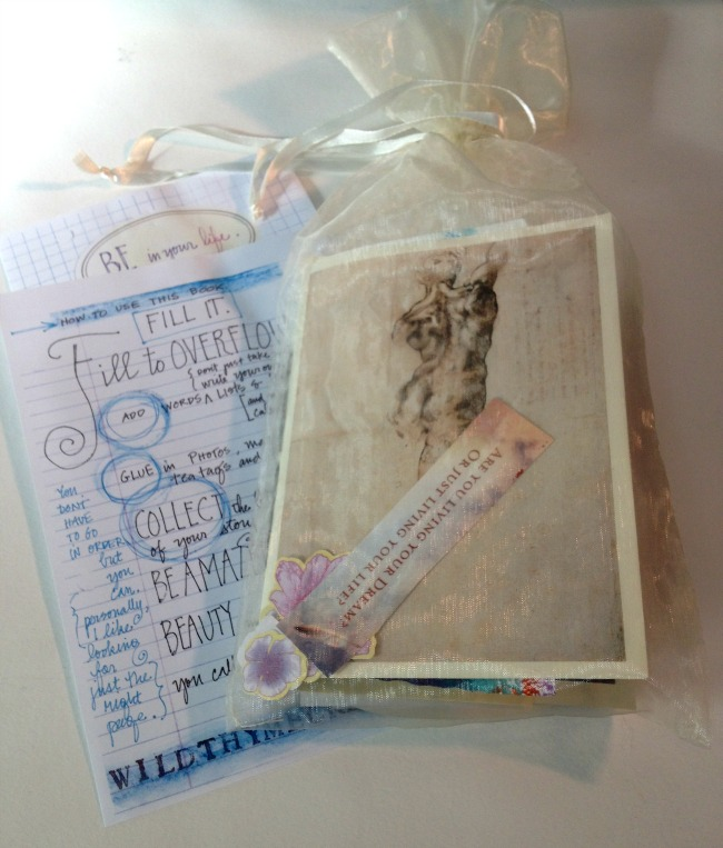 handbound journal by Betsy Canas Garmon of Wild Thyme Creative