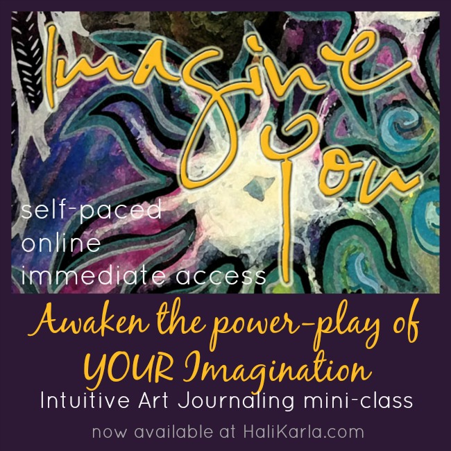 Online mini-class for art journaling with Hali Karla Arts