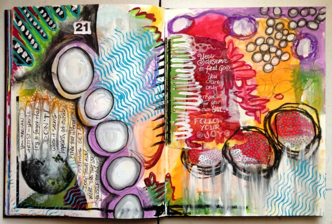 journal spread, Hali Karla Arts