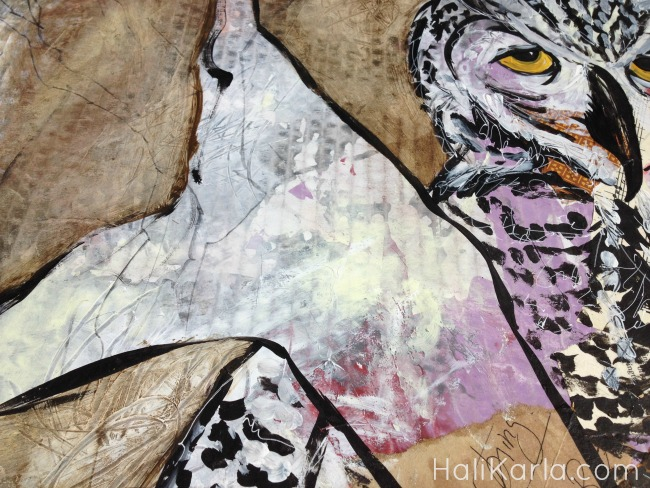 mixed media detail, Hali Karla