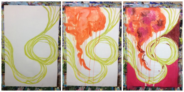 painting process 1-3, Hali Karla
