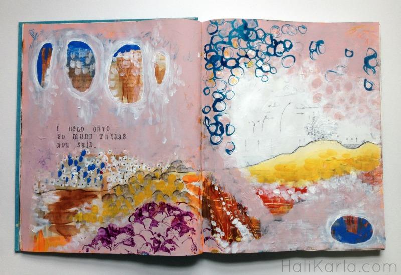 altered book art journal by Hali Karla