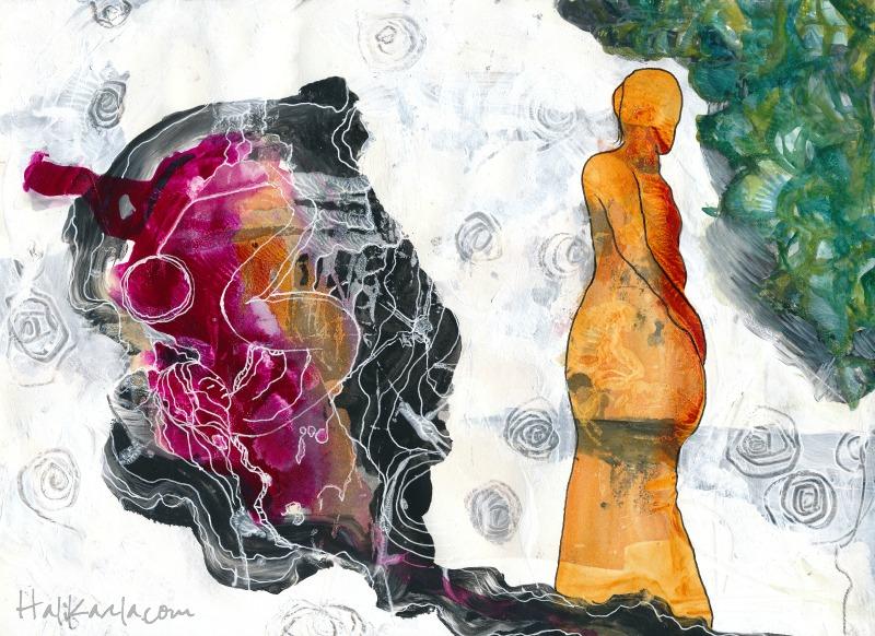 prayer pages, mixed media, Hali Karla Arts