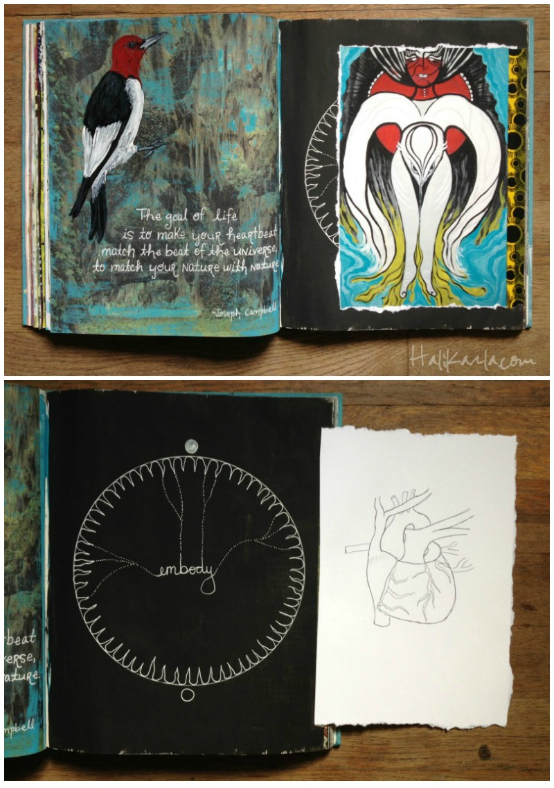 altered book art journal, Hali Karla Arts