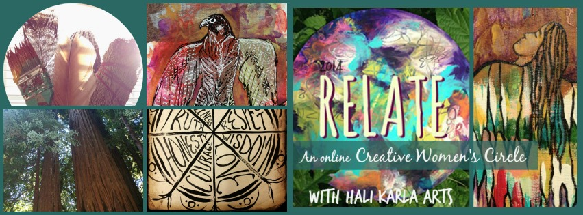 online Women's Creativity Circle hosted by Hali Karla Arts