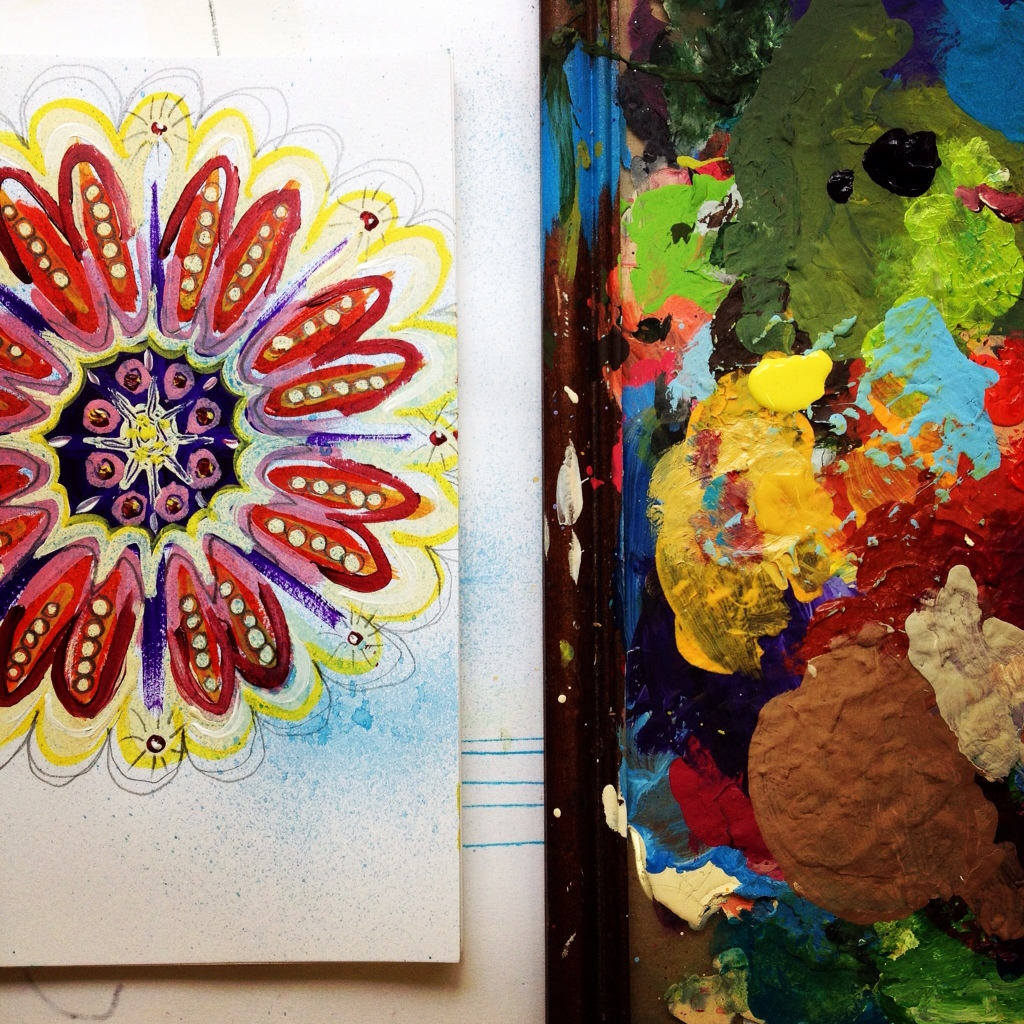 loose mandala in the studio, Hali Karla Arts