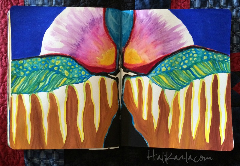 intuitive art journal, hali karla