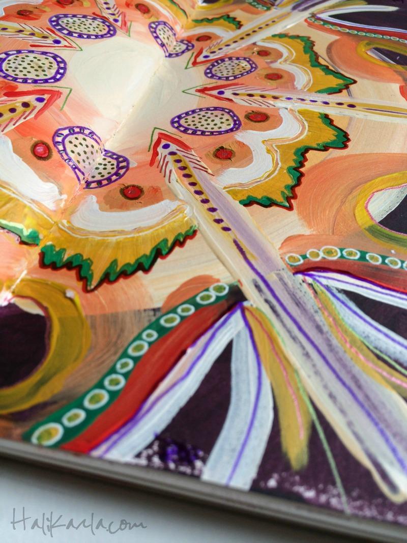intuitive mandala detail, Hali Karla Arts