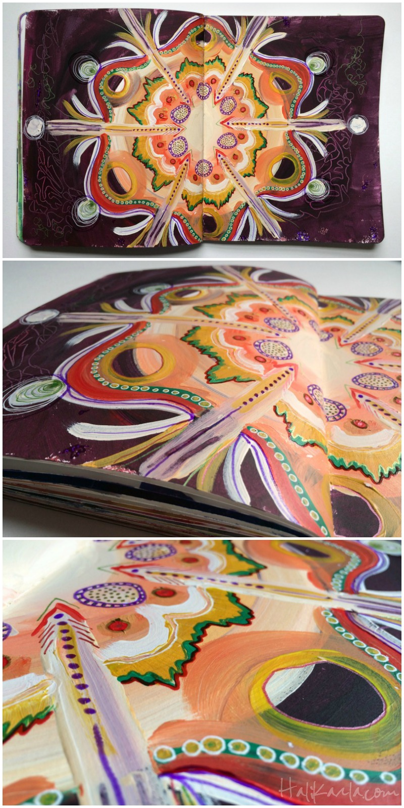 intuitive mandala art journling, Hali Karla Arts