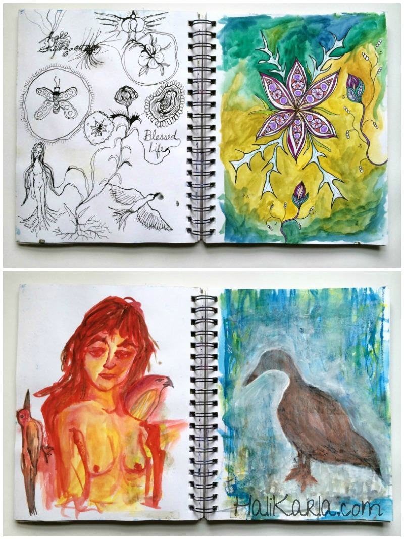 sketchbook pages, Hali Karla