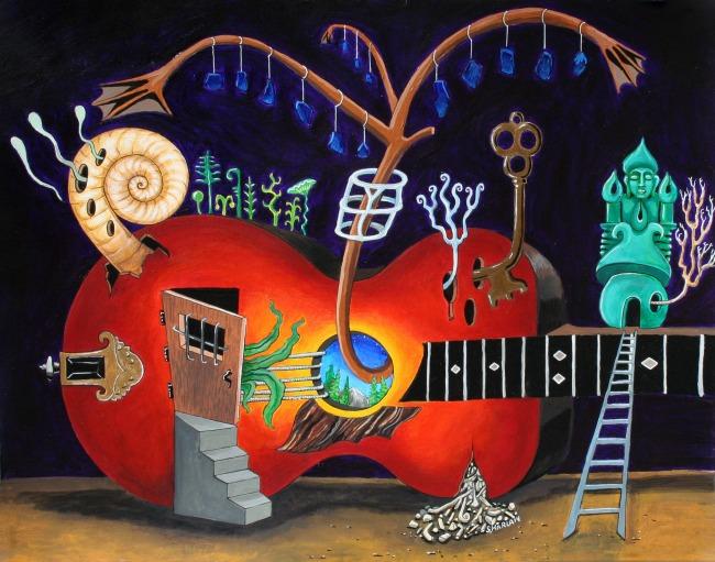 Red Guitar by Steve Karla
