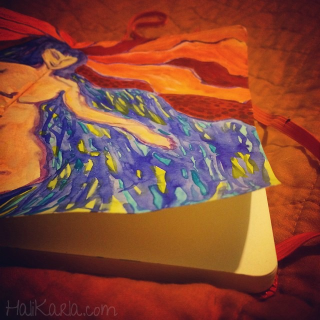 jan7 art journal, Hali Karla
