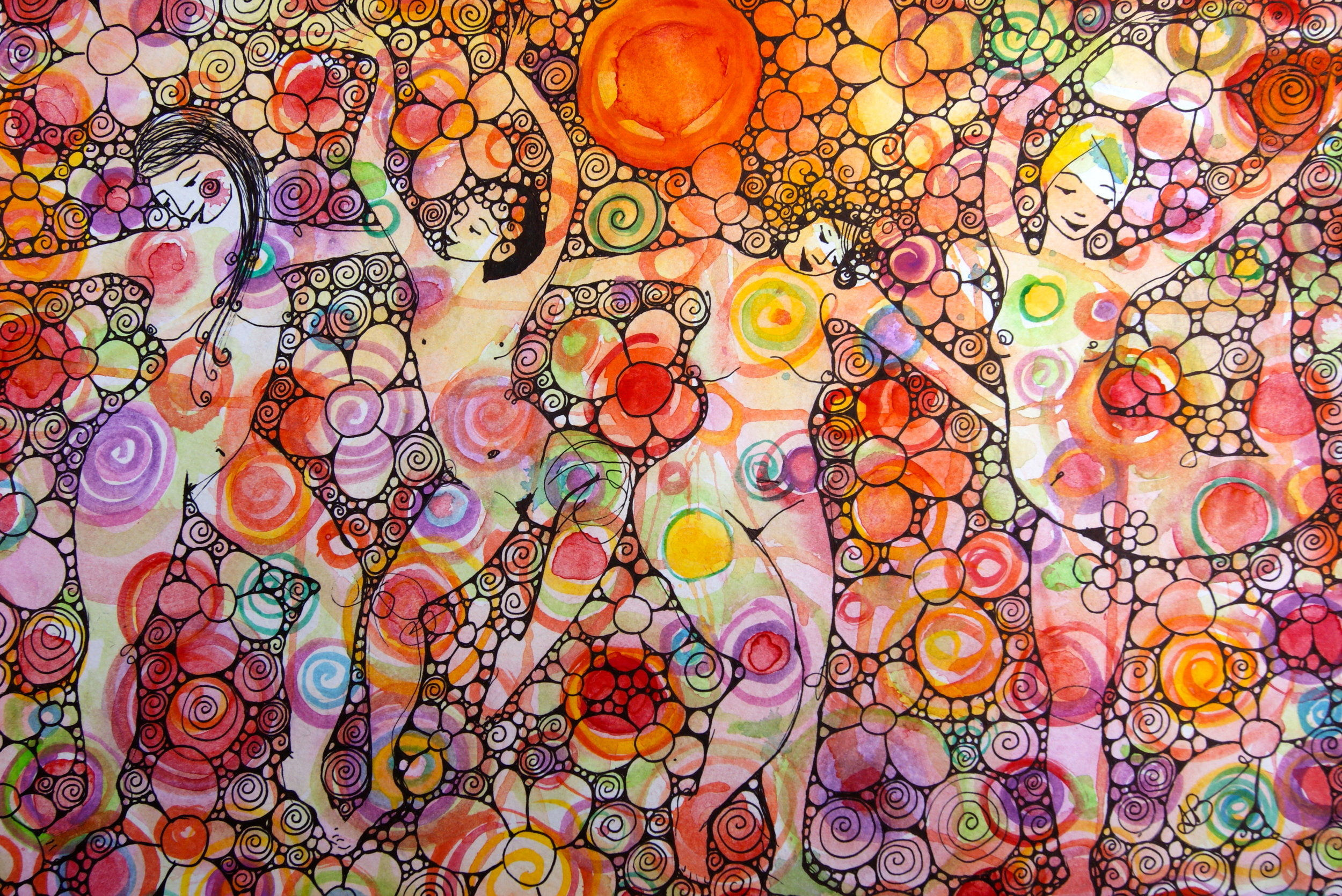 click to listen to a free Holistic Creative Chat with Australian artist and author, Arna Baartz (painting by Arna!)