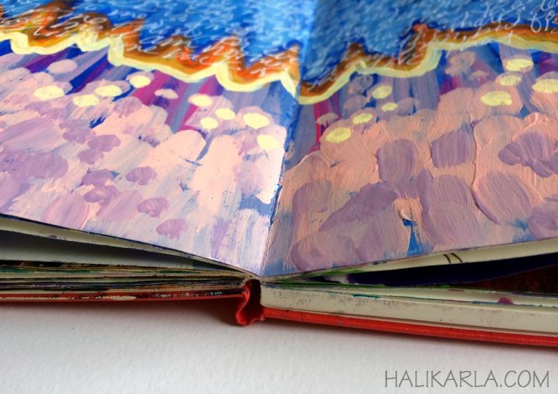 creative practice page in moleskine art journal, Hali Karla