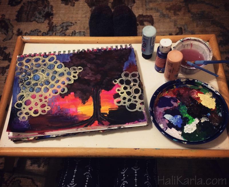 creative practice art journal, Hali Karla