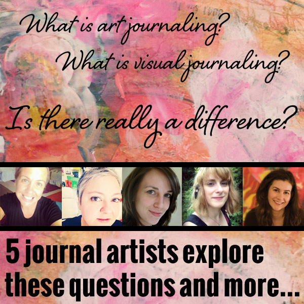 is there a difference between art journaling and visual journaling?