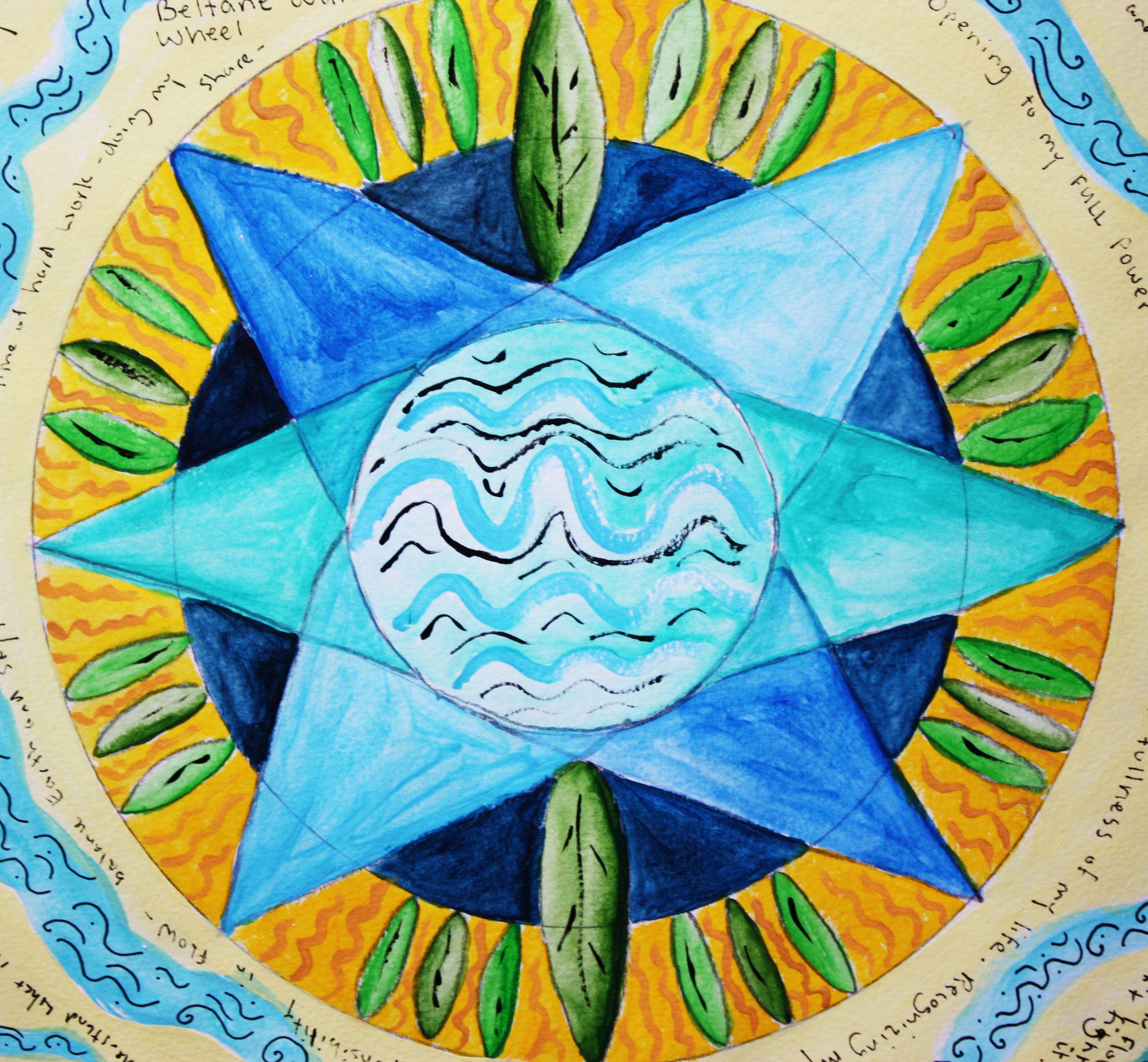Listen to artist, yogini and mother Lisa Hofmann share about creative practice, self-care, presence and healing... (Mandala by Lisa Hofmann)