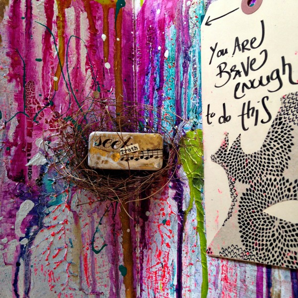 detail of art journal by Jessica Leigh Brogan, click through for an interview with her on living a holistic creative life as artist, writer and single mama