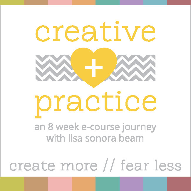 win a free spot to Lisa Sonora's Creative + Practice ecourse