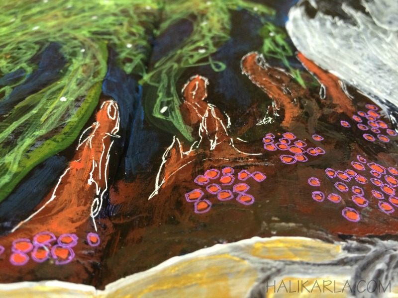 mixed media art journal detail