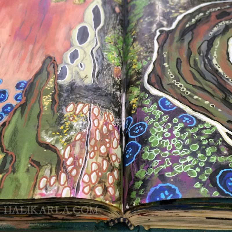 visual journal art detail - my truest muse, Hali Karla