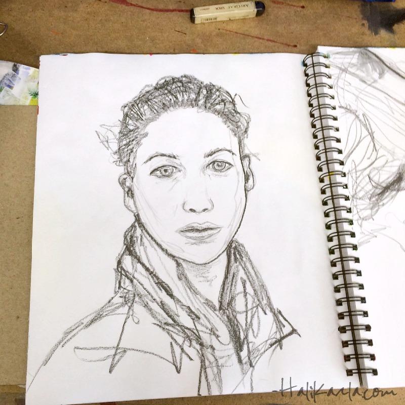 portrait study, Hali Karla