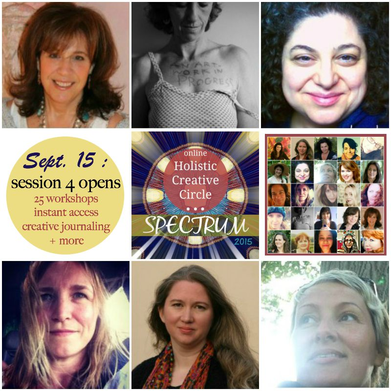 Spectrum session 4, join us through October for the whole 2015 Holistic Creative Journaling experience with 25 contributors!