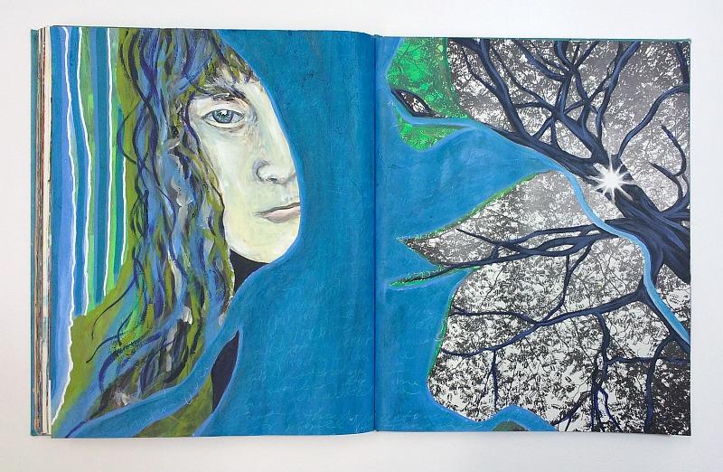 altered book art journal - artist Hali Karla