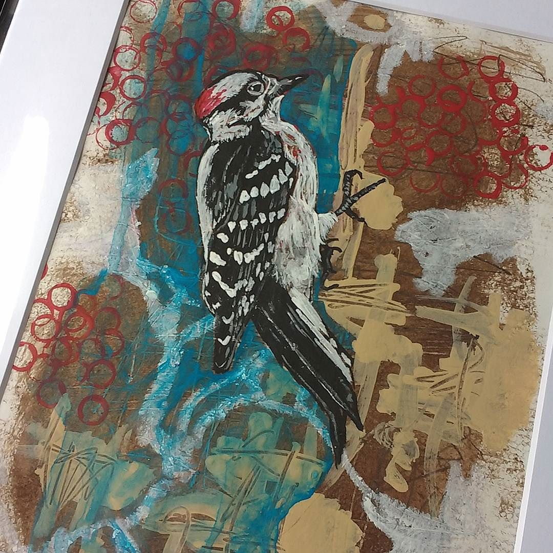 For some reason, this little woodpecker was always one of my favorites from the bird studies I did last year. He's heading off to his purchaser today.