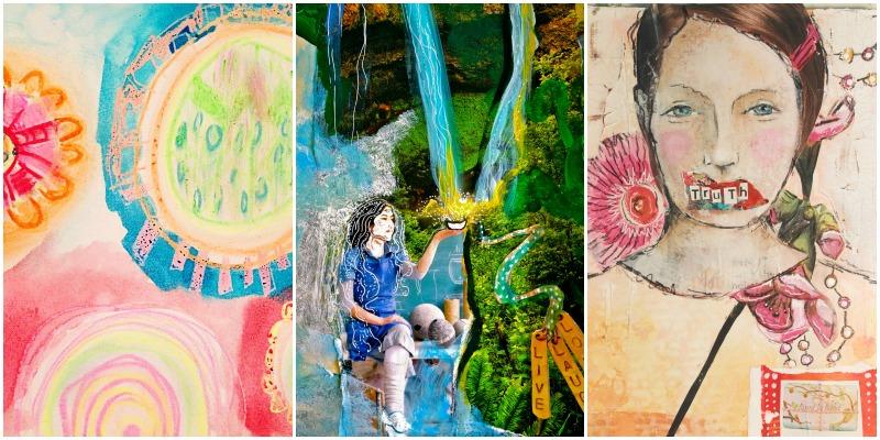 Art by Spectrum 2016 contributors, Bebe Butler, Briana Goetzen, Cat Caracelo