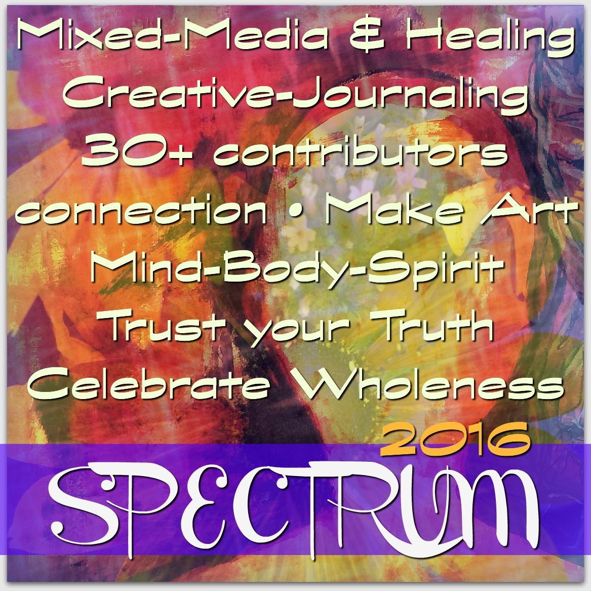 Spectrum 2016 Holistic Creative Workshop, join us