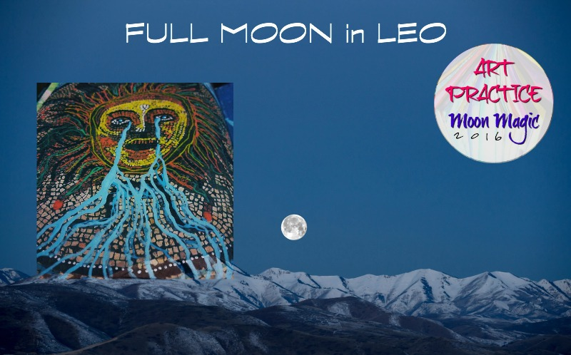 Full Moon in Leo Art Practice Moon Magic with Hali Karla Arts