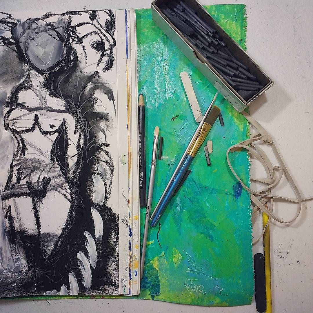 automatic sketching in charcoal and gesso