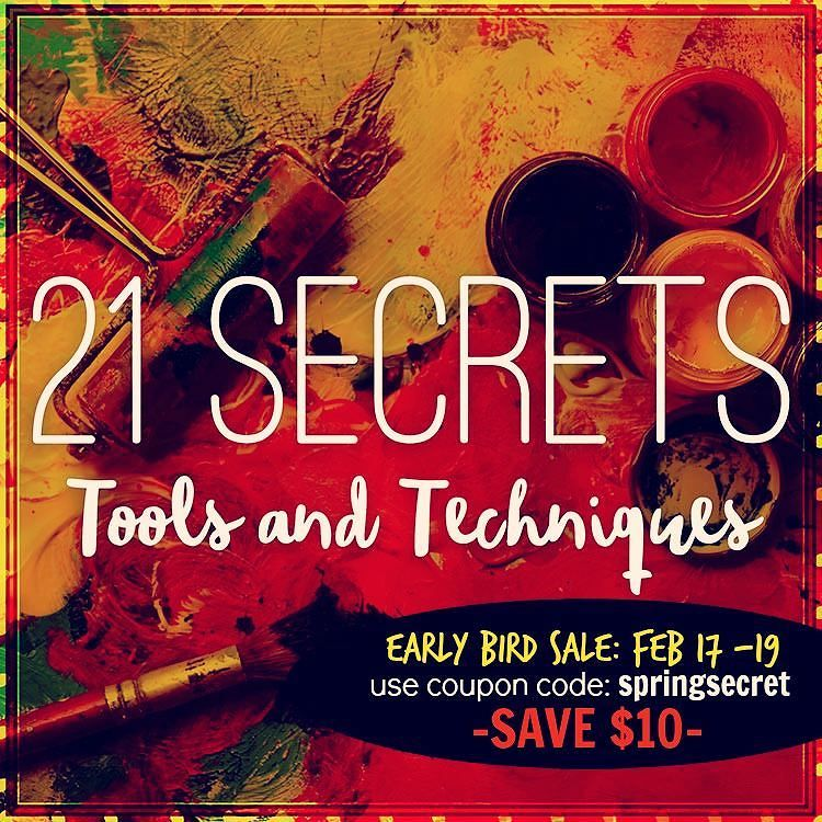 this is the last edition of 21 SECRETS that I'm the Creative Director for - come join us - it's a GREAT one to really dive into your art journaling practice! So much talent in these teachers!