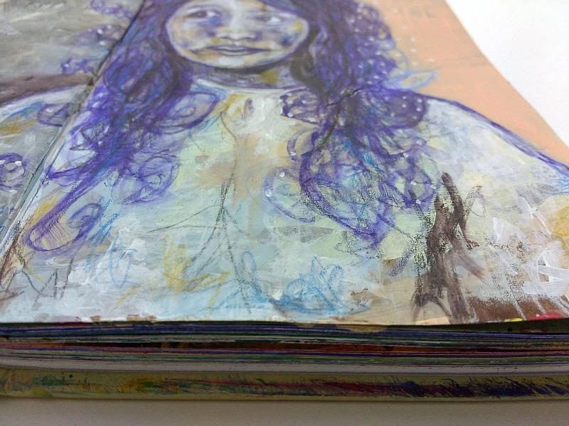 altered book art journal detail (Hali Karla)