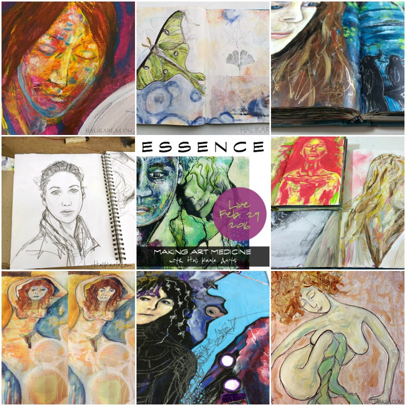 Essence opens Feb 29, a mixed-media self-paced class with ongoing access. We will be practicing portraiture and reflecting on self-knowing through relationship and awareness. from Hali Karla Arts