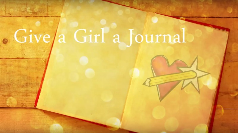 sharing my life-long experience with journaling for Jamie Ridler's Give A Girl A Journal initiative