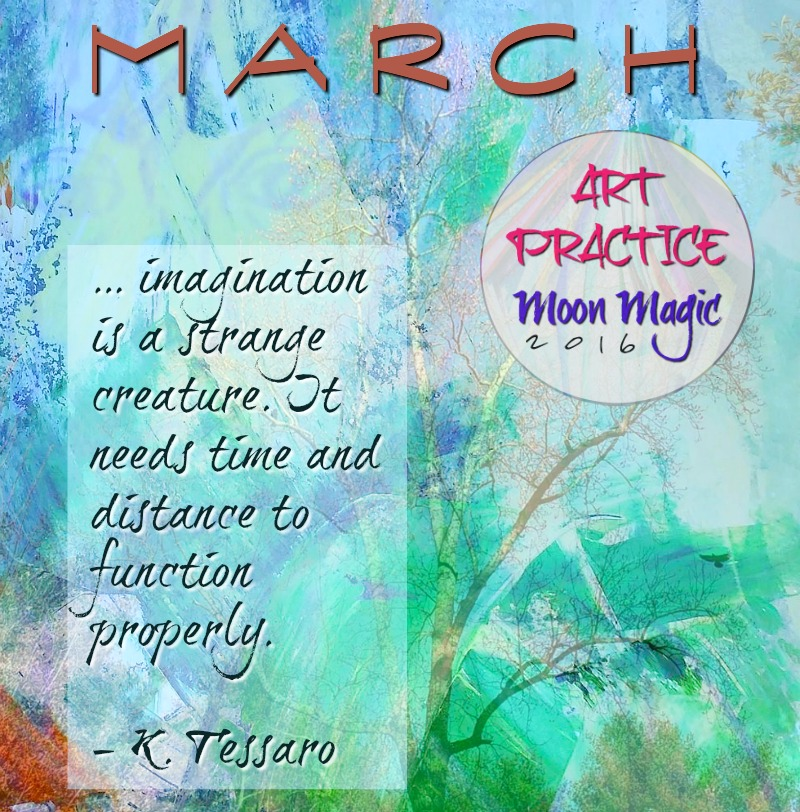 March New Moon Creative Practice Invitation for Art Practice, Moon Magic